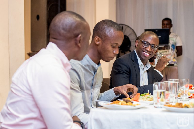 Left to right: Tunde Kehinde, Opeyemi Awoyemi and Bankole Cardoso at TechCabal Sessions, July 2014