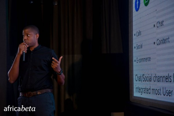 Etop Ikpe at the last edition of TechCabal's Africabeta