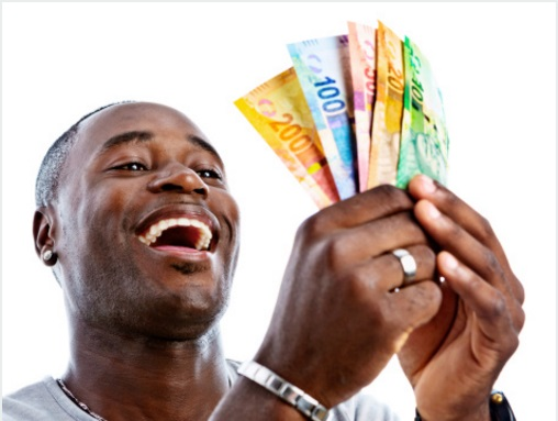 smiling at money 1