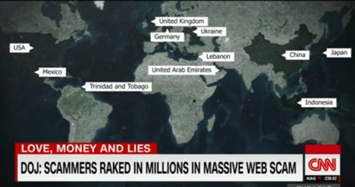 Geographical spread of Nigerian online fraud is spreading. Counting the cost as Nigerian fraud goes global