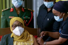 Tanzania first female president kicks off COVID vaccinations after year long denial