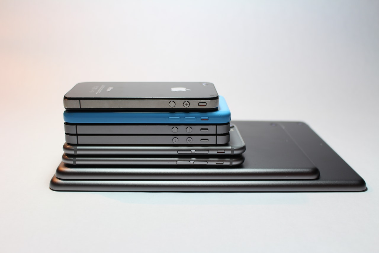 """Picture of a stack of phones for the article, """"How to navigate Africa's thriving second-hand smartphone market"""""""