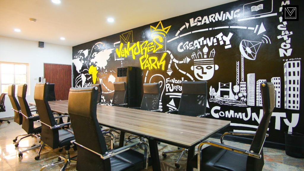 A shared workspace at the new Ventures Park campus. Image credit: Supplied