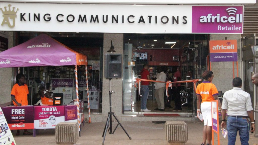 An Africell Shop in Uganda