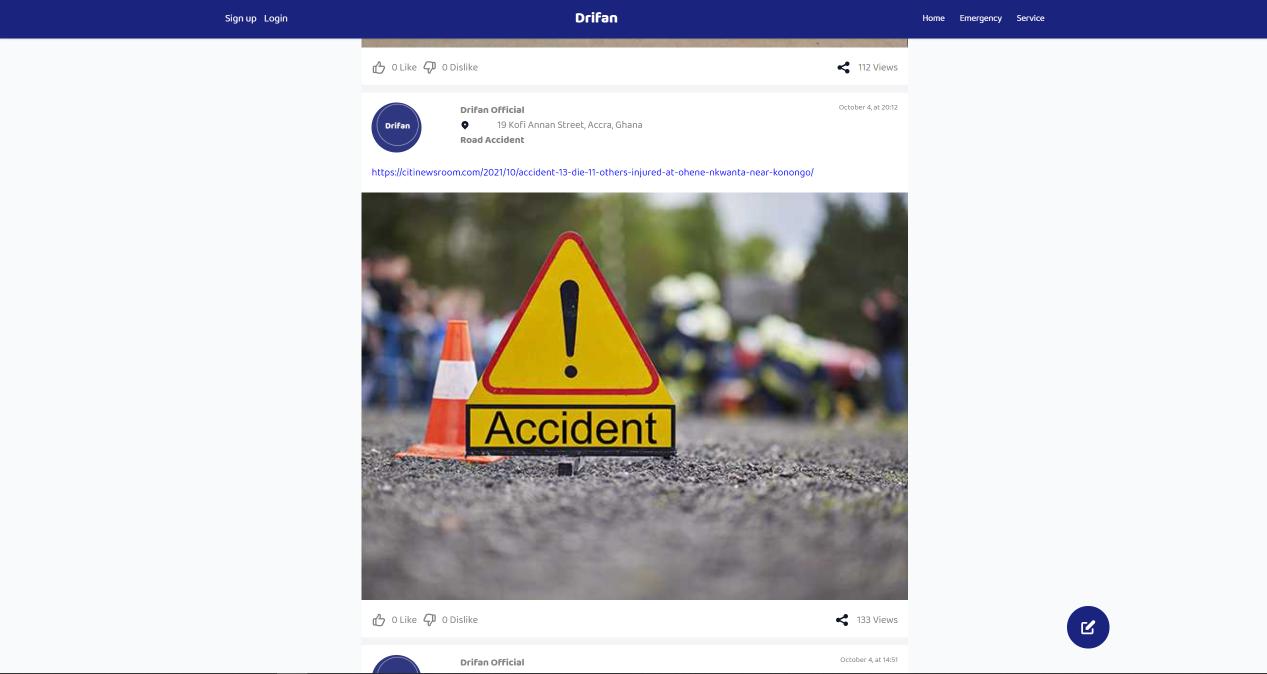 A screenshot of the Drifan platform. Image credit: TechCabal